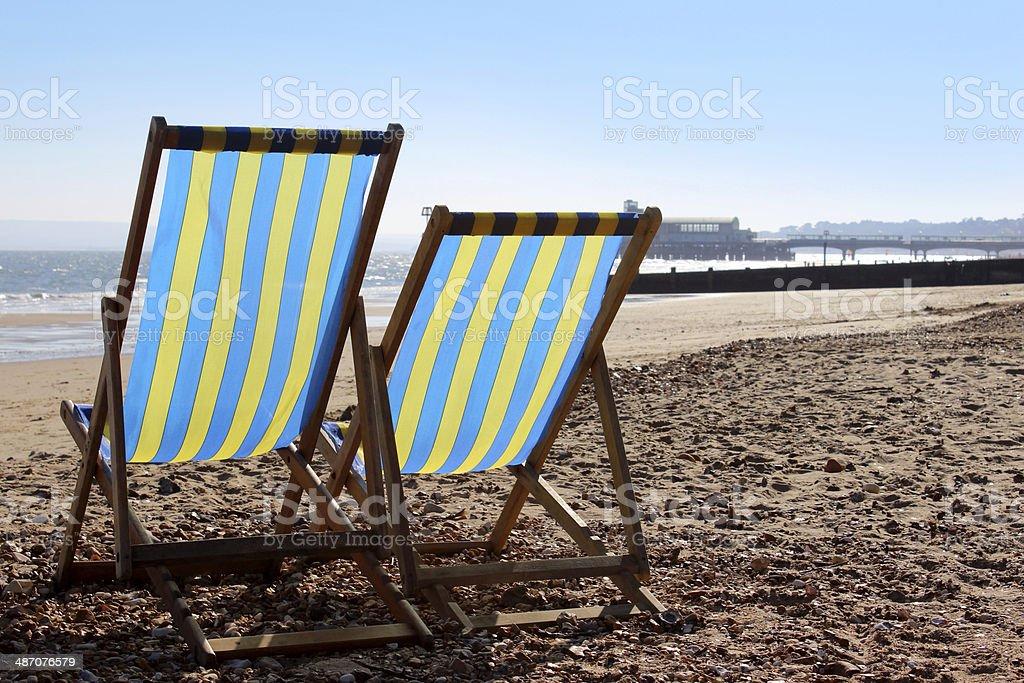 Sedia Sdraio In Inglese.Foto Di Sedie A Sdraio Al Sole Sulla Spiaggia Di Inglese Foto Di
