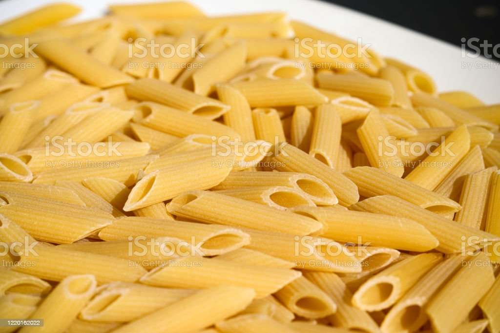 Photo of dried penne pasta - Royalty-free Bow Tie Pasta Stock Photo