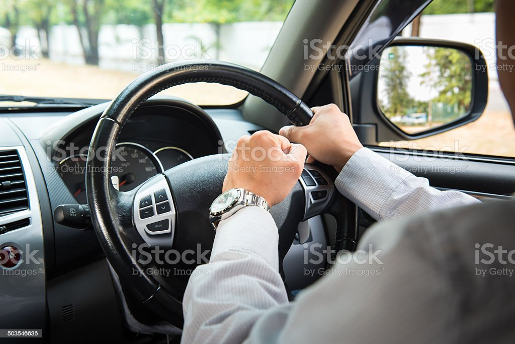Photo of driver honking in traffic on the road stock photo