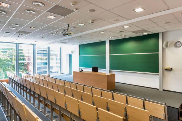 Photo of empty classroom in school stock photo