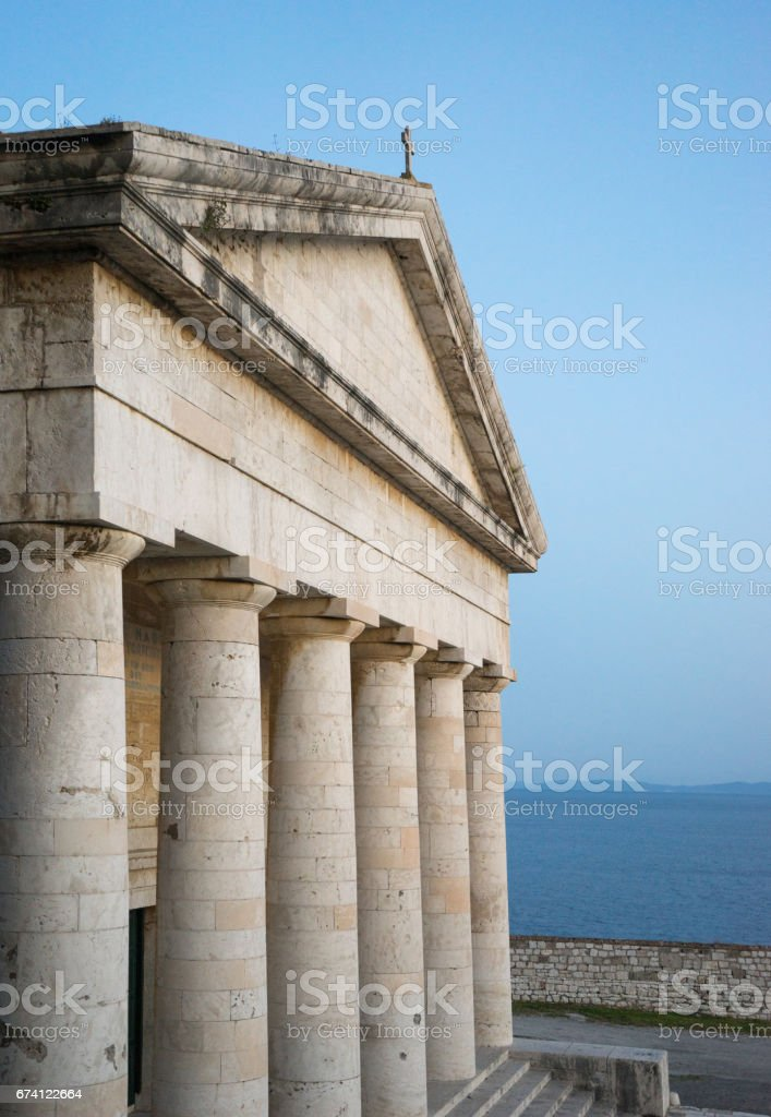 Photo of famous church of Saint George in old Venetian fortress of Corfu island, Ionian, Greece 免版稅 stock photo