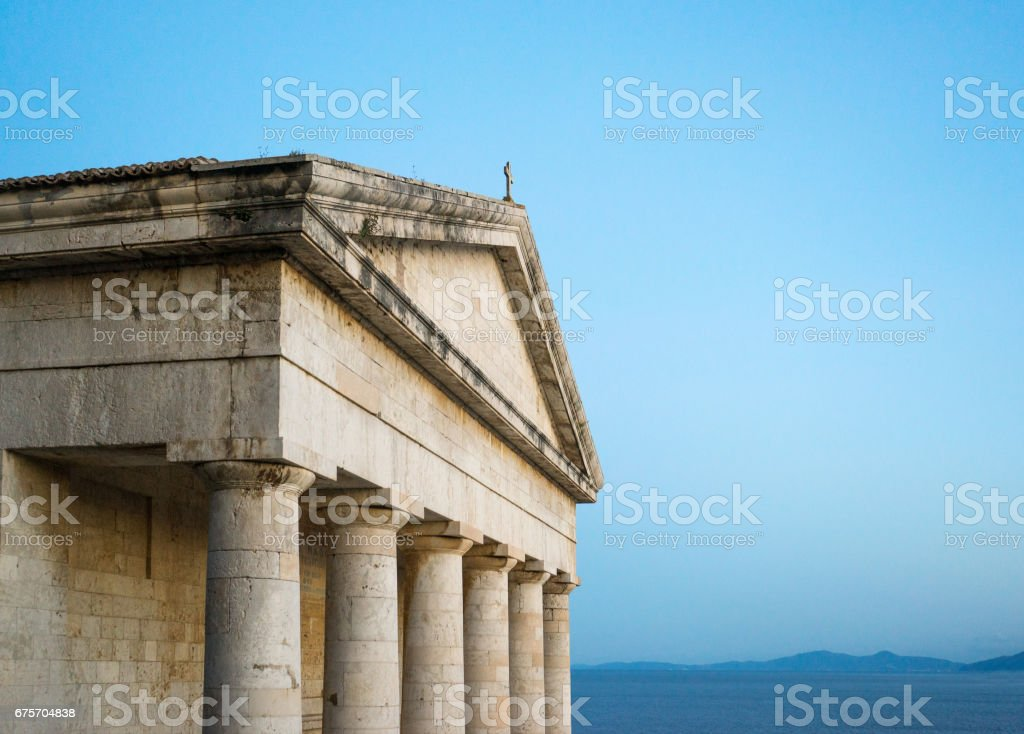 Photo of famous church of Saint George in old Venetian fortress of Corfu island, Ionian, Greece 免版稅 stock photo