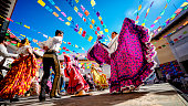 istock Photo of folklore dancers dancing in Mexico. Mexican culture and traditions. 1277297248