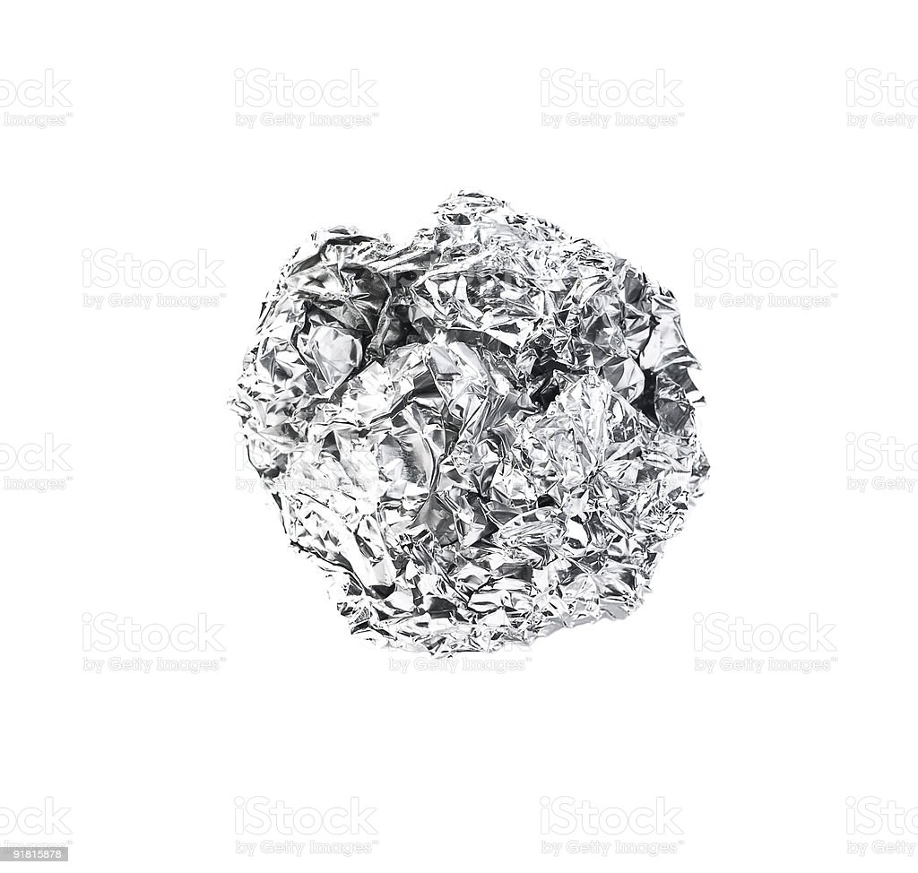 Photo of fractured foil royalty-free stock photo