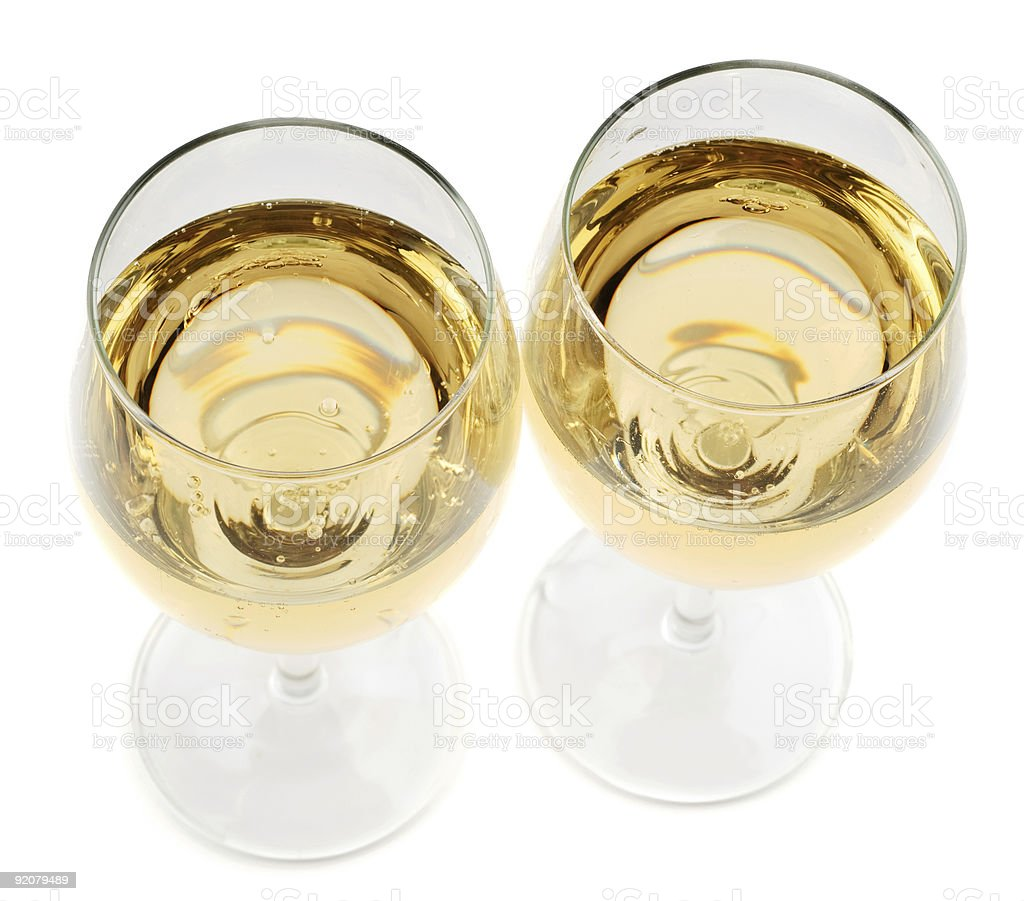 Photo of full transparent wine glasses royalty-free stock photo