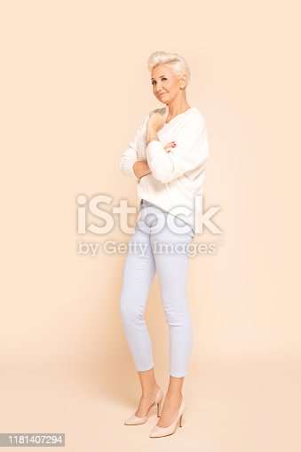 istock Photo of gorgeous adult woman. 1181407294