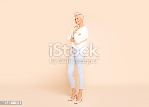 istock Photo of gorgeous adult woman. 1181408071