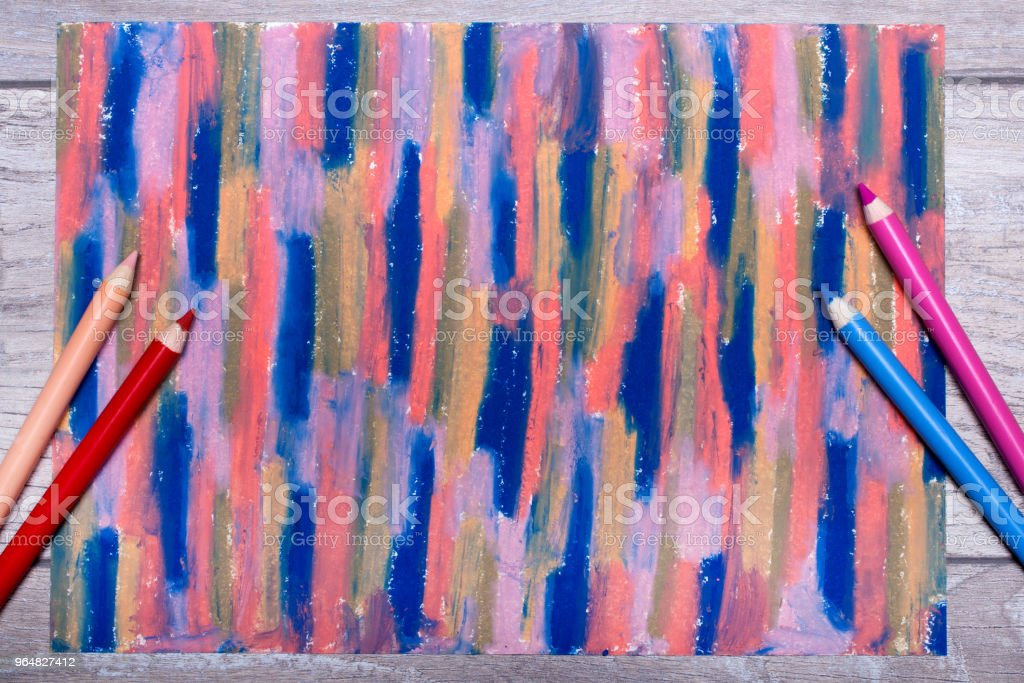 Photo of hand drawing. Colorful texture for background royalty-free stock photo