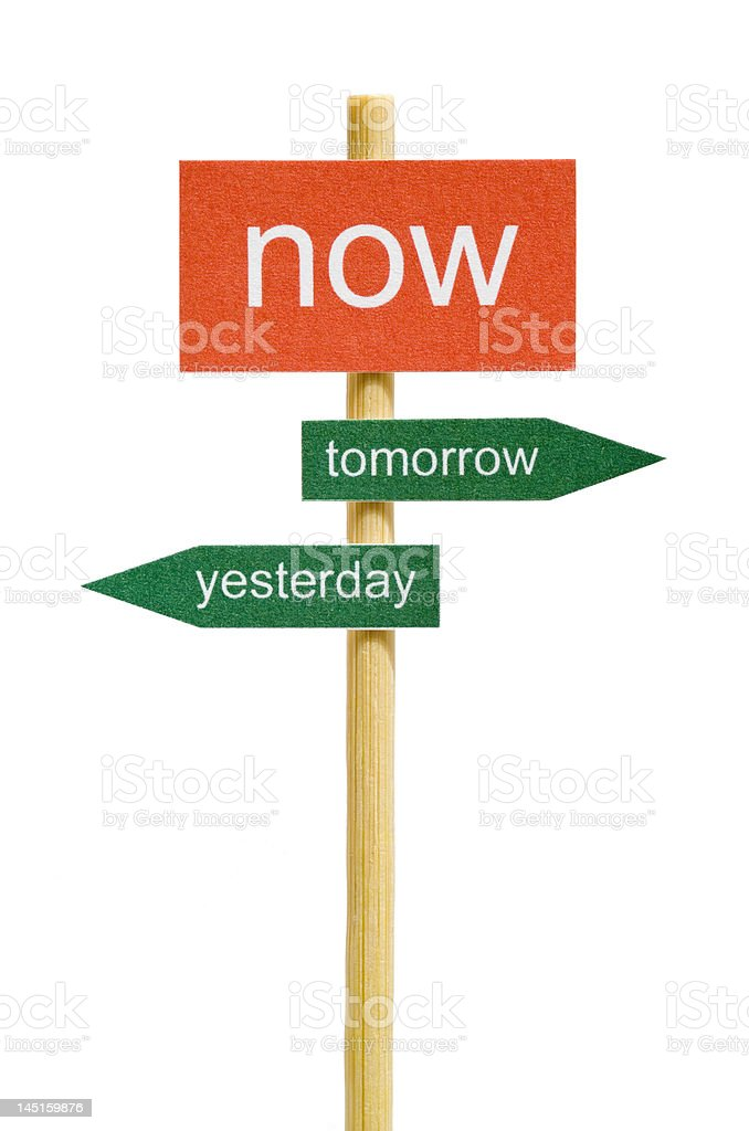 Photo of imitation signboard on time concept, isolated royalty-free stock photo
