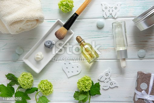 istock Photo of jasmine oil. Jasmine flowers and oil. Photo cosmetology and spa 1190031010