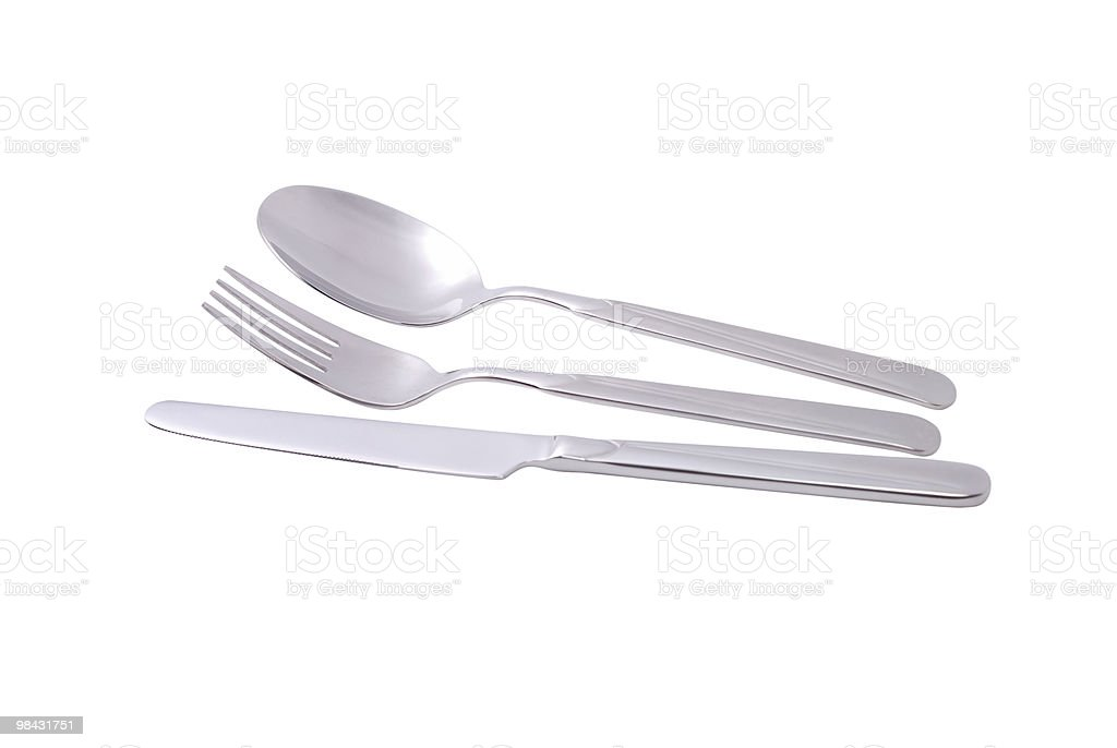 Photo of knife, spoon, fork royalty-free stock photo