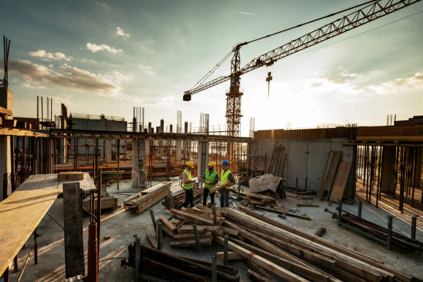 Photo of large scale construction site stock photo