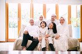 istock Photo of Lovely Family Celebrating Hari Raya Aidilfitri 1195742486