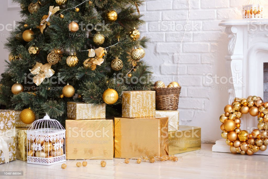 Photo Of Luxury Gift Boxes Under Christmas Tree New Year Home