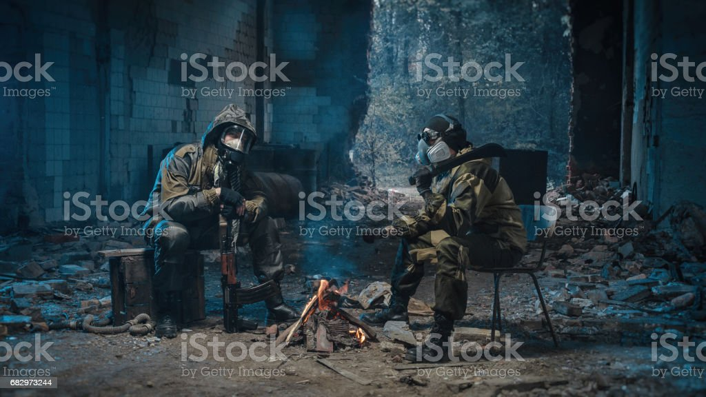 photo of man in uniform with a weapon royalty-free stock photo
