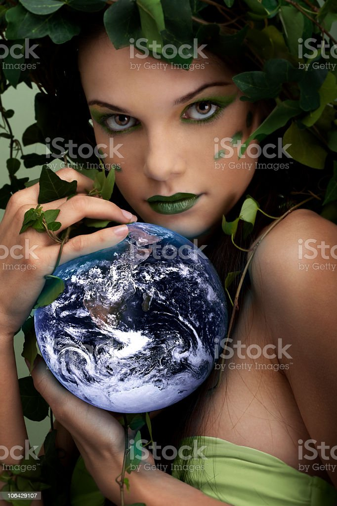 Photo of mother nature protecting the Earth royalty-free stock photo