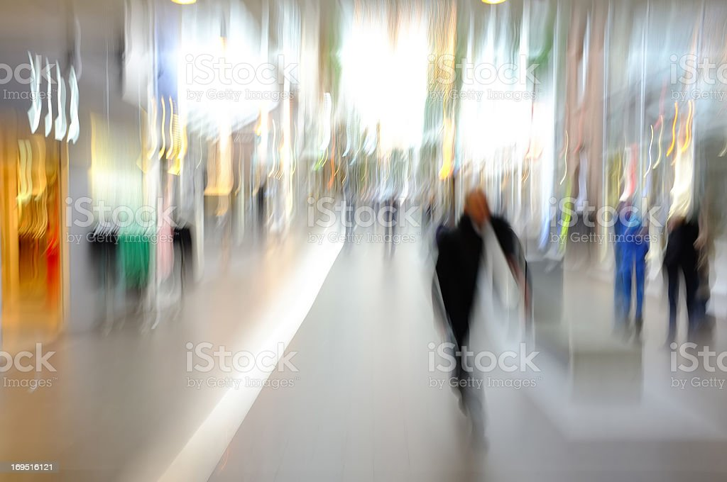 A photo of motion blurred city life royalty-free stock photo