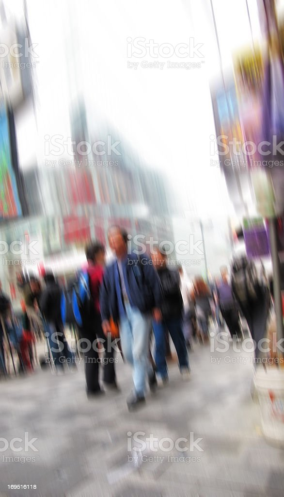 A photo of Motion blurred street life in New York royalty-free stock photo