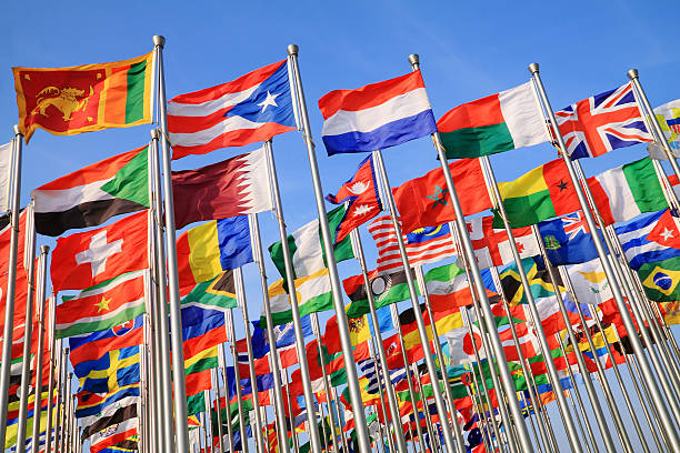 a photo of national flags from around the world - latin america stock photos and pictures
