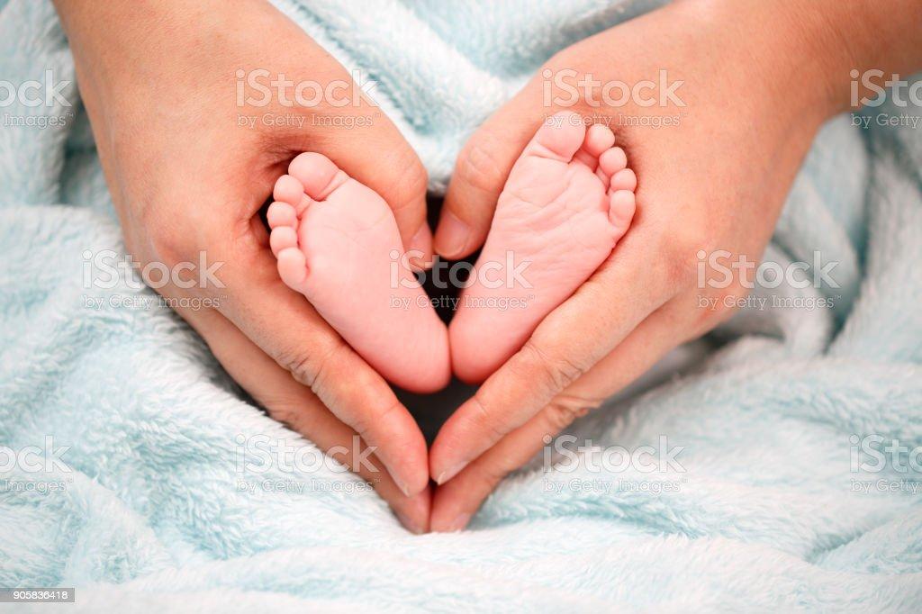 Foto des neugeborenen Babys Füße - Lizenzfrei Baby Stock-Foto
