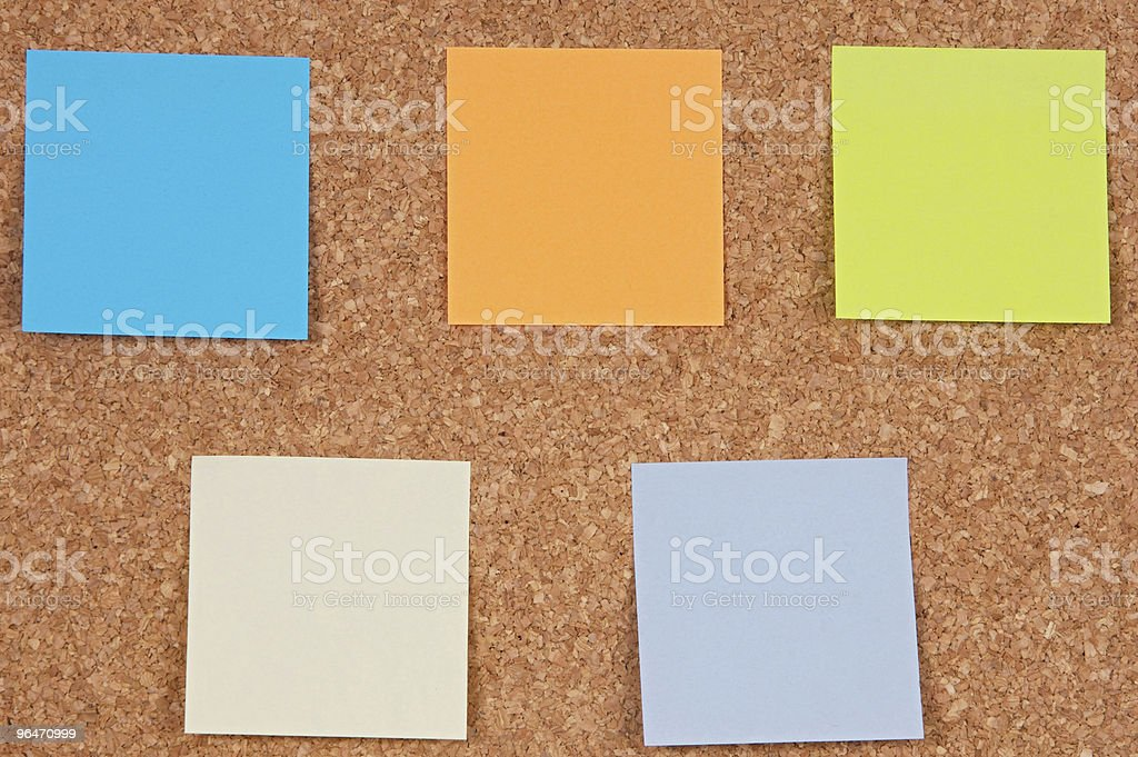 Photo of notes royalty-free stock photo