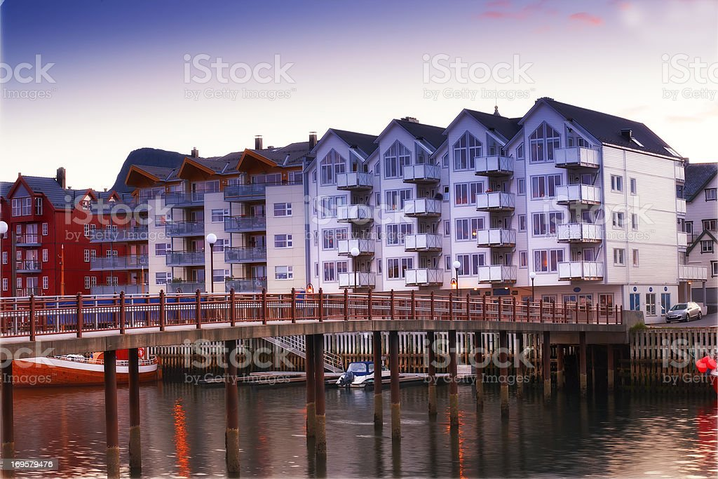 A photo of of Svolvaer, Nordic City North of the Polar Circle, Norway royalty-free stock photo
