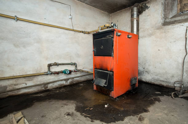 photo of old furnace - furnace stock photos and pictures