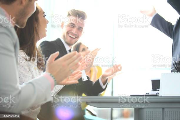 Photo of partners clapping hands after business seminar professional picture id909268924?b=1&k=6&m=909268924&s=612x612&h=r1ugevqwixboqumedb9by  5kbvjk1 njlalx6opxwq=