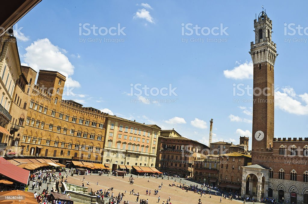 Photo of Piazza del Campo-Siena on a sunny day  stock photo