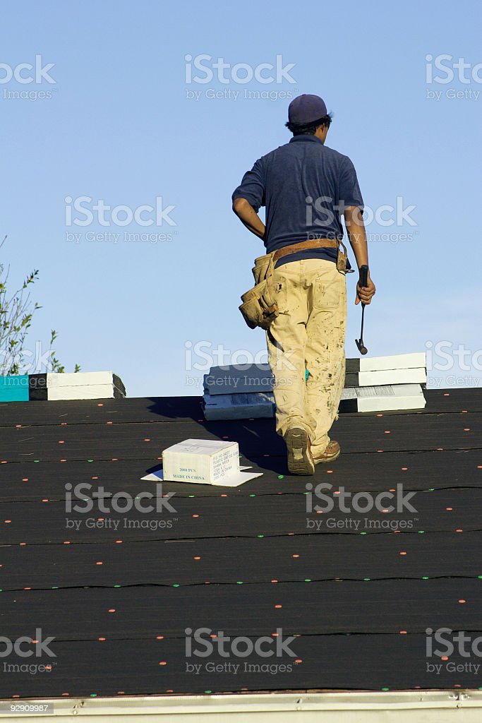 Photo of Roofer royalty-free stock photo