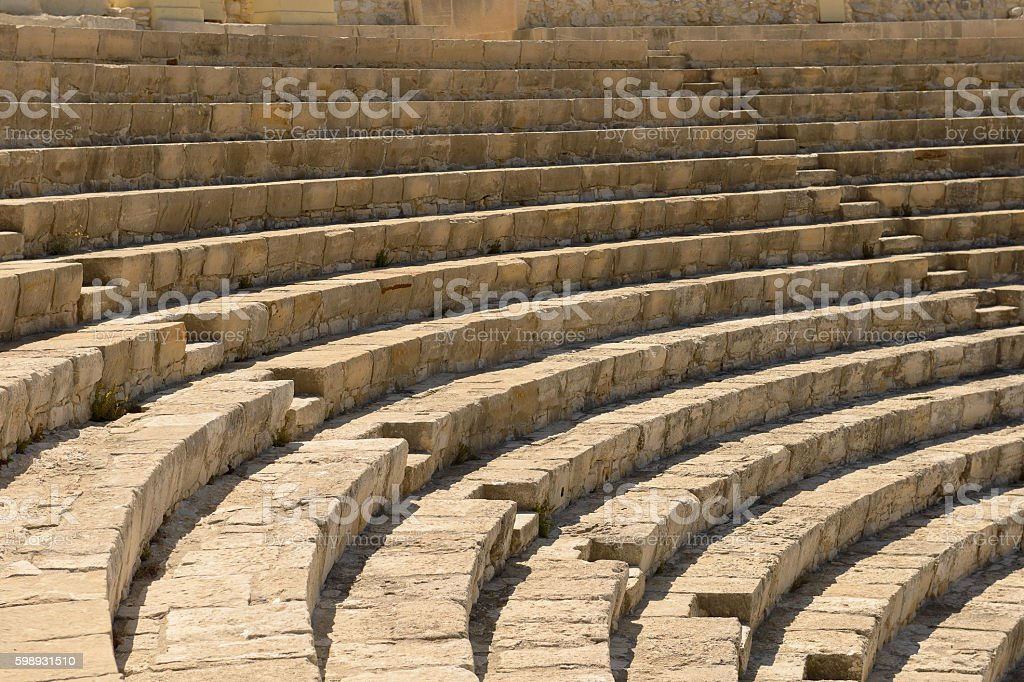 Photo of ruins of the ancient theater. stock photo