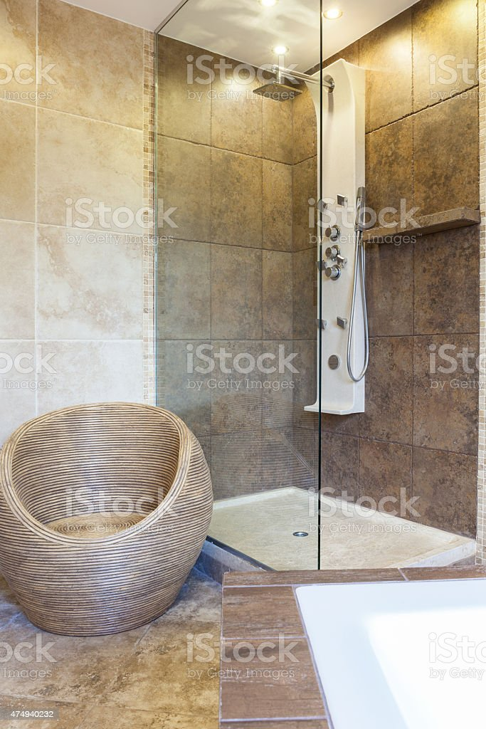 Photo Of Shower Tub In Modern Bathroom Stock Photo Download Image Now Istock