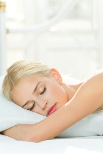 Photo Of Sleeping Young Woman At Home Stock Photo - Download Image Now