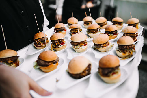 small burgers in a wedding
