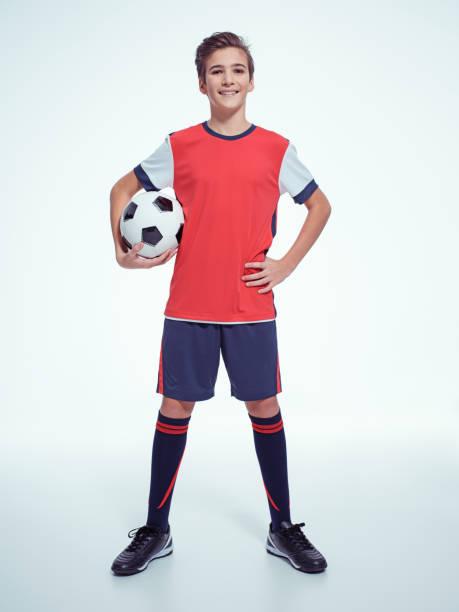 Foto von teenboy Sportswear mit Soccer ball – Foto