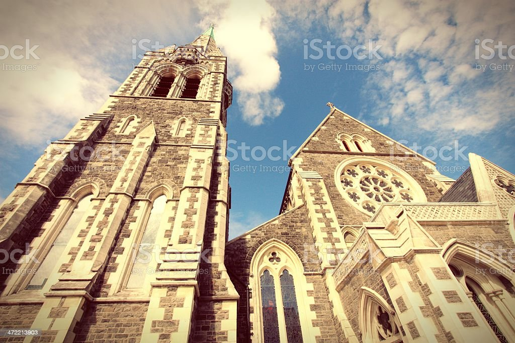 Photo of the church tower of Christchurch stock photo
