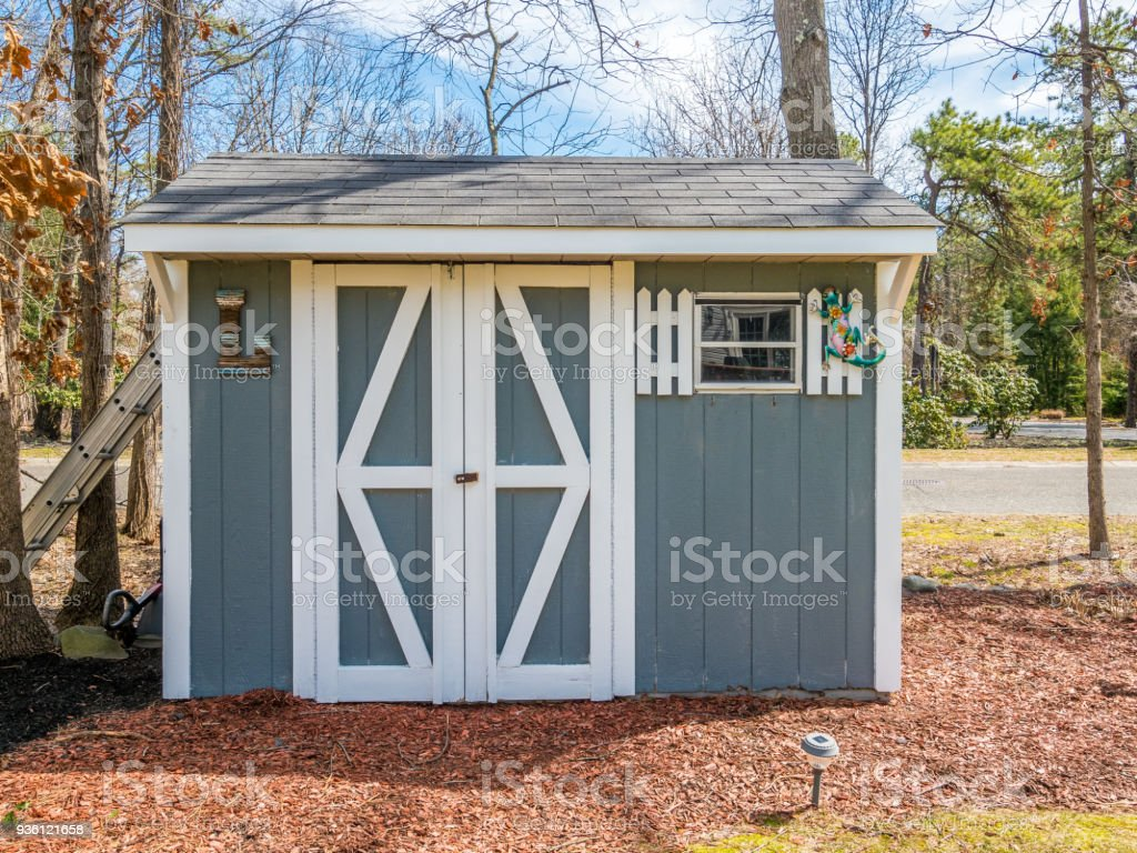 Photo of the shed stock photo