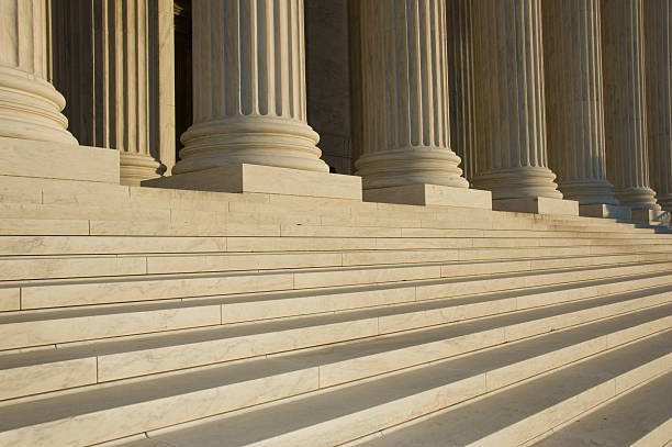 Photo of the steps and columns at the U.S. Supreme Court stock photo