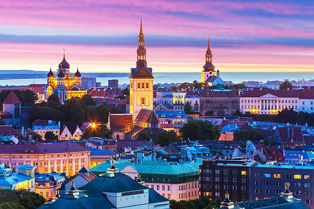 Soirée le paysage de Tallinn (Estonie) - Photo