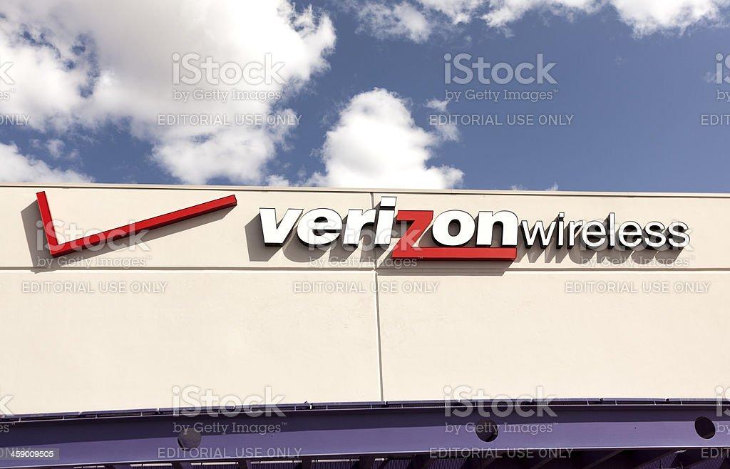Photo of the Verizon logo. stock photo