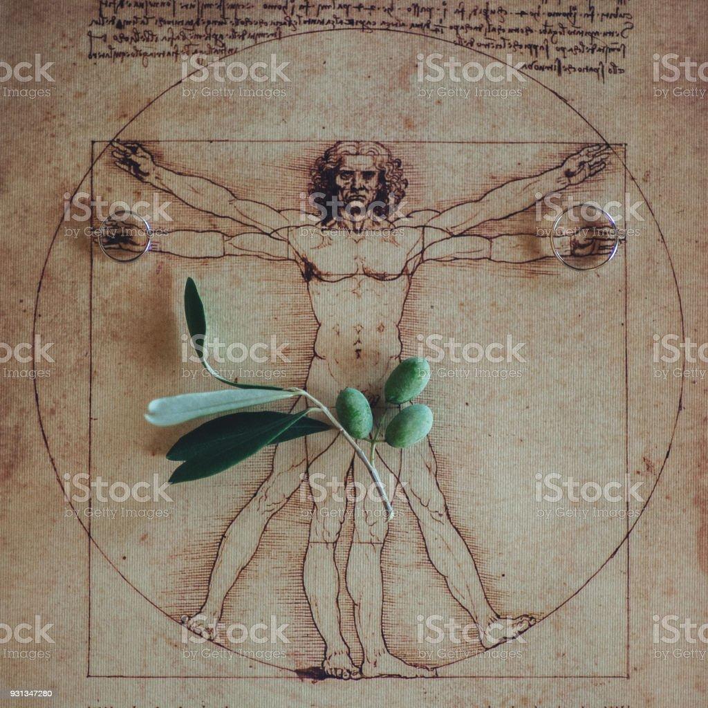 Photo Of The Vitruvian Man By Leonardo Da Vinci From 1492 On ...