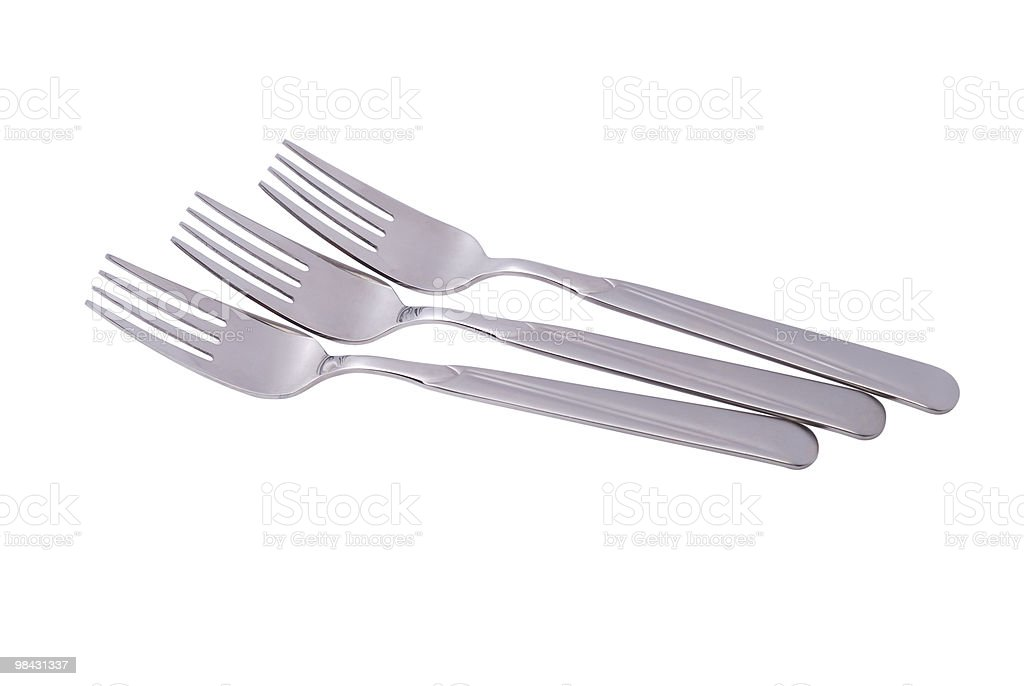 Photo of whole forks isolated royalty-free stock photo