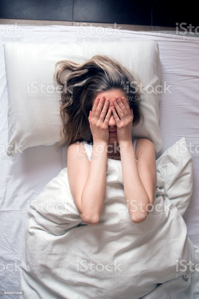 Photo of Woman having insomnia in bed - Photo