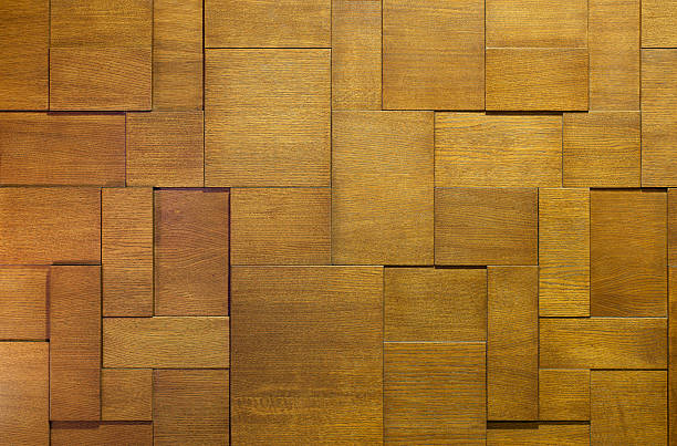 Photo of wooden background interlocking pieces of wood Wooden Background. Abstract hardwood texture image.  architectural feature stock pictures, royalty-free photos & images