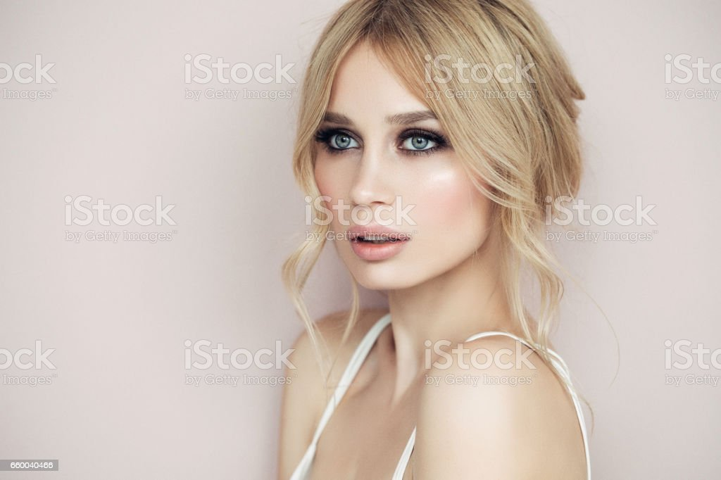Photo of young beautiful woman stock photo