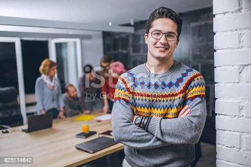 629805626 istock photo Photo of young business man in a conference room 623114642