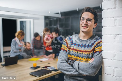 629805626 istock photo Photo of young business man in a conference room 623114772