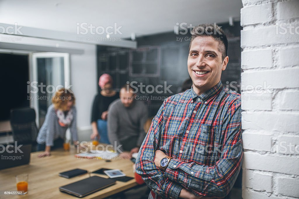 Photo of young business man in a conference room - Lizenzfrei Anwerbung Stock-Foto
