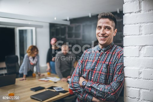 629805626 istock photo Photo of young business man in a conference room 629422702