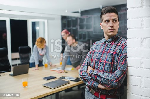 629805626 istock photo Photo of young business man in a conference room 629805246